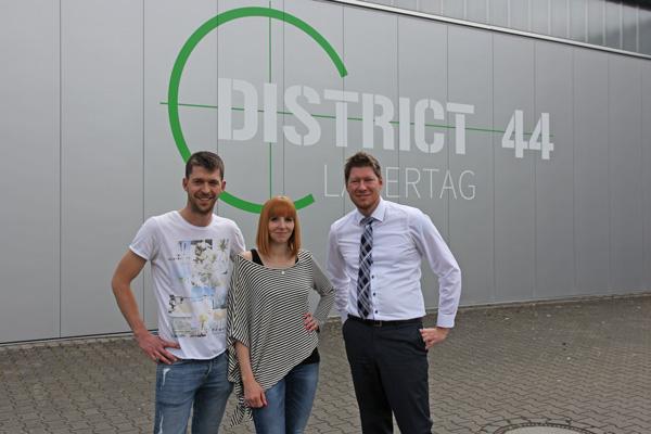 Geschäftsinhaber Jessica Kornadt und Marko Swedik - Distrit 44 Lasertag