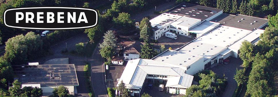 Luftaufnahme des Hauptsitzes von Prebena in Schotten