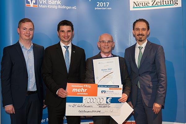 Botschafter des Sports: Dieter Dörr - GNZ-Sportlerwahl 2017 bei der Preisübergabe