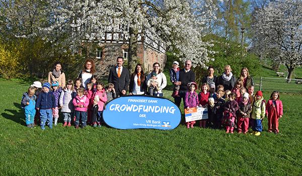 Spendenübergabe an den Förderverein des Kindergartens Klitzeklein und Gernegroß