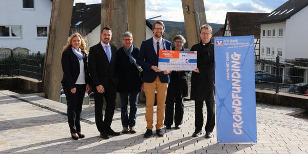 Spendenübergabe Crowdfunding-Projekt - VR Bank Main-Kinzig-Büdingen