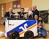 Übergabe VRmobil-Kinderbus an die Kinderkrippe Löwenzahn in Langenselbold