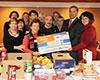 Spendenübergabe an die Essensbank Heldenbergen