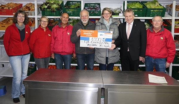 Spendenübergabe an den Verein Essen für Alle (EfA) Wächtersbach