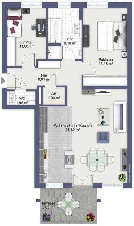 Grundrissbeispiel - Immobilie Aschaffenburg