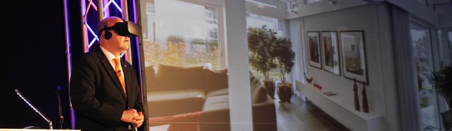 Virtuelle Immobilienbesichtigung mit VR-Brille