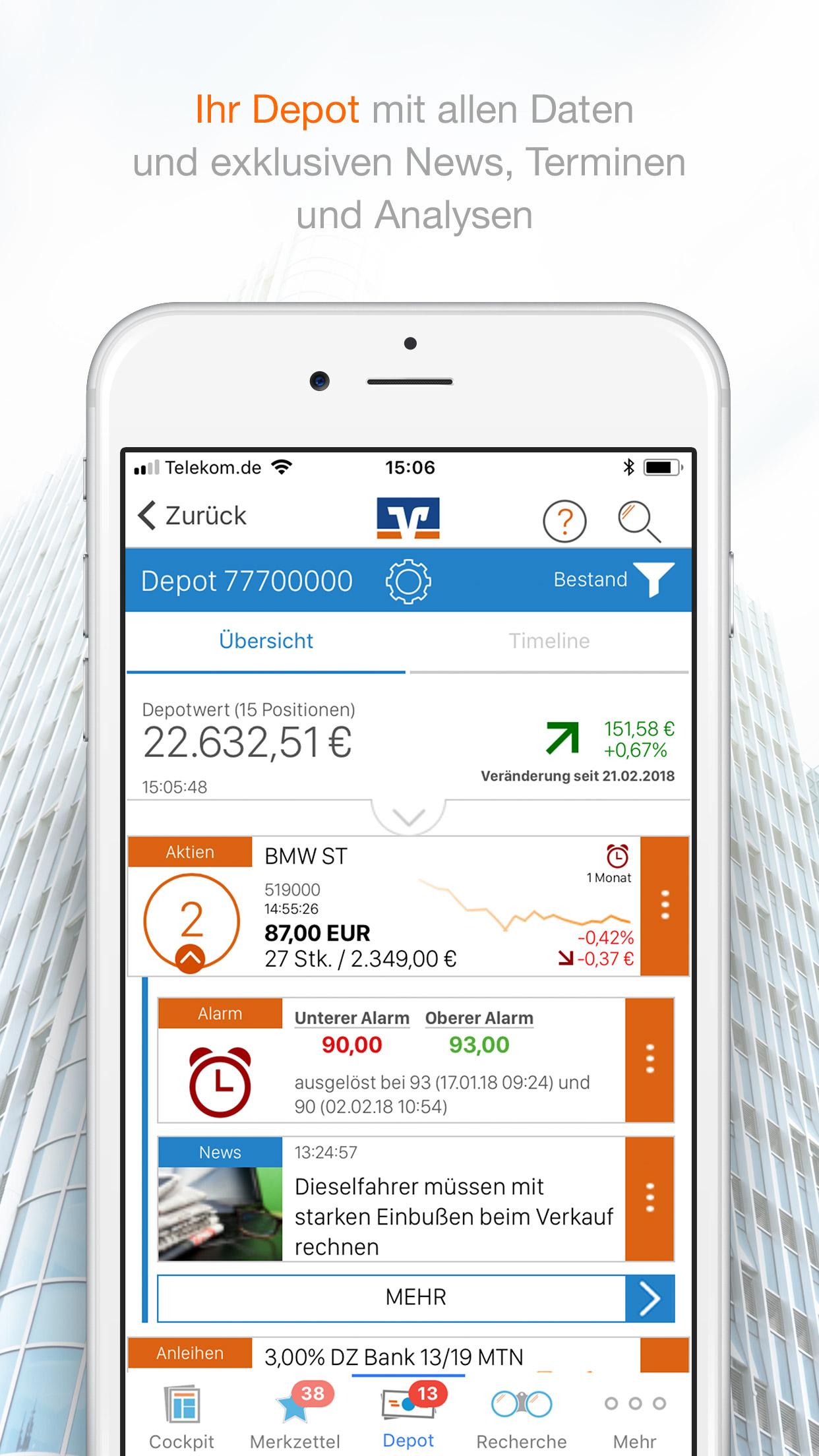 DepotPlus-App - Finanznavigator - VR Bank Main-Kinzig-Büdingen eG
