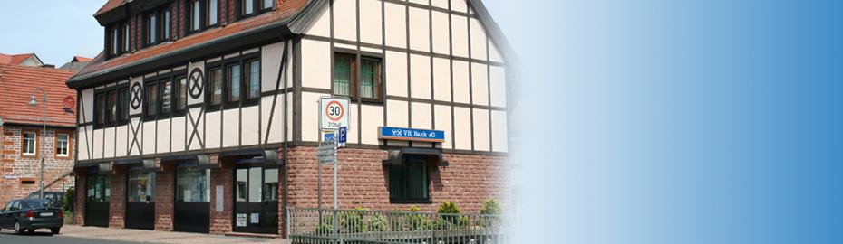 VR Bank Main-Kinzig-Büdingen eG, Geschäftsstelle Oberndorf, Orber Gasse 2, 63637 Jossgrund