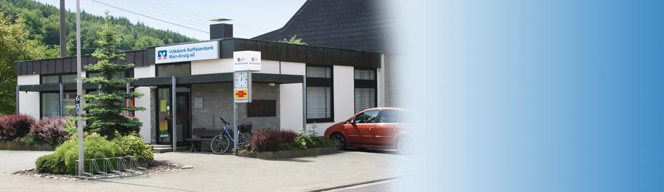 VR Bank Main-Kinzig-Büdingen eG, Geschäftsstelle Lohrhaupten, Mühlweg 13, 63639 Flörsbachtal