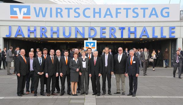 VR Bank Main-Kinzig-Büdingen eG mit Unternehmen auf dem Wirtschaftstag