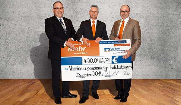 Förderbilanz 2014 der VR Bank Main-Kinzig-Büdingen eG
