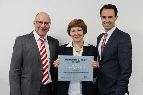 Auszeichnung IMMO Partner 2016/2017 - VR Bank Main-Kinzig-Büdingen