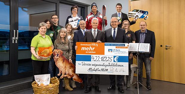 Verschiedenste Vereine erhielten auch 2017 Spenden