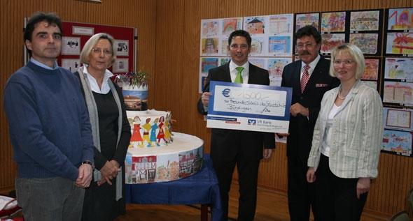 VR Bank übergibt Spende an den Freundeskreis der Stadtschule Büdingen
