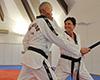 Astrid Winter beim Taekwondo-Training