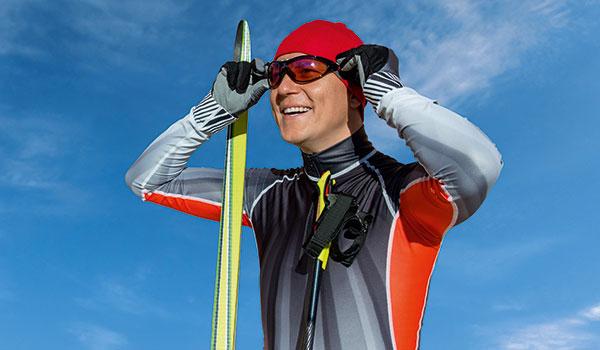 Carsten Zimmer ist gern auf Ski im Vogelsberg unterwegs