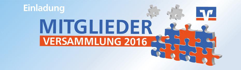 Mitgliederversammlung 2016 der VR Bank Main-Kinzig-Büdingen eG