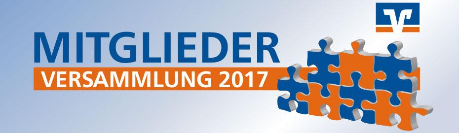 Mitgliederversammlung 2017 der VR Bank Main-Kinzig-Büdingen eG