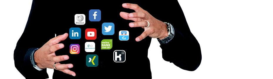 Social Media Kanäle der VR Bank Main-Kinzig-Büdingen eG